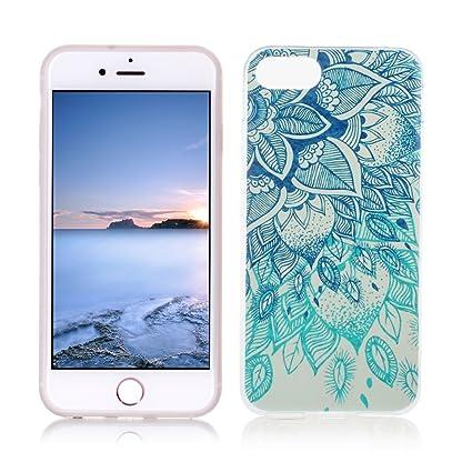 OuDu Funda para iPhone 7 Carcasa Protectora Caso Silicona TPU Funda Suave Soft Silicone Case Cover