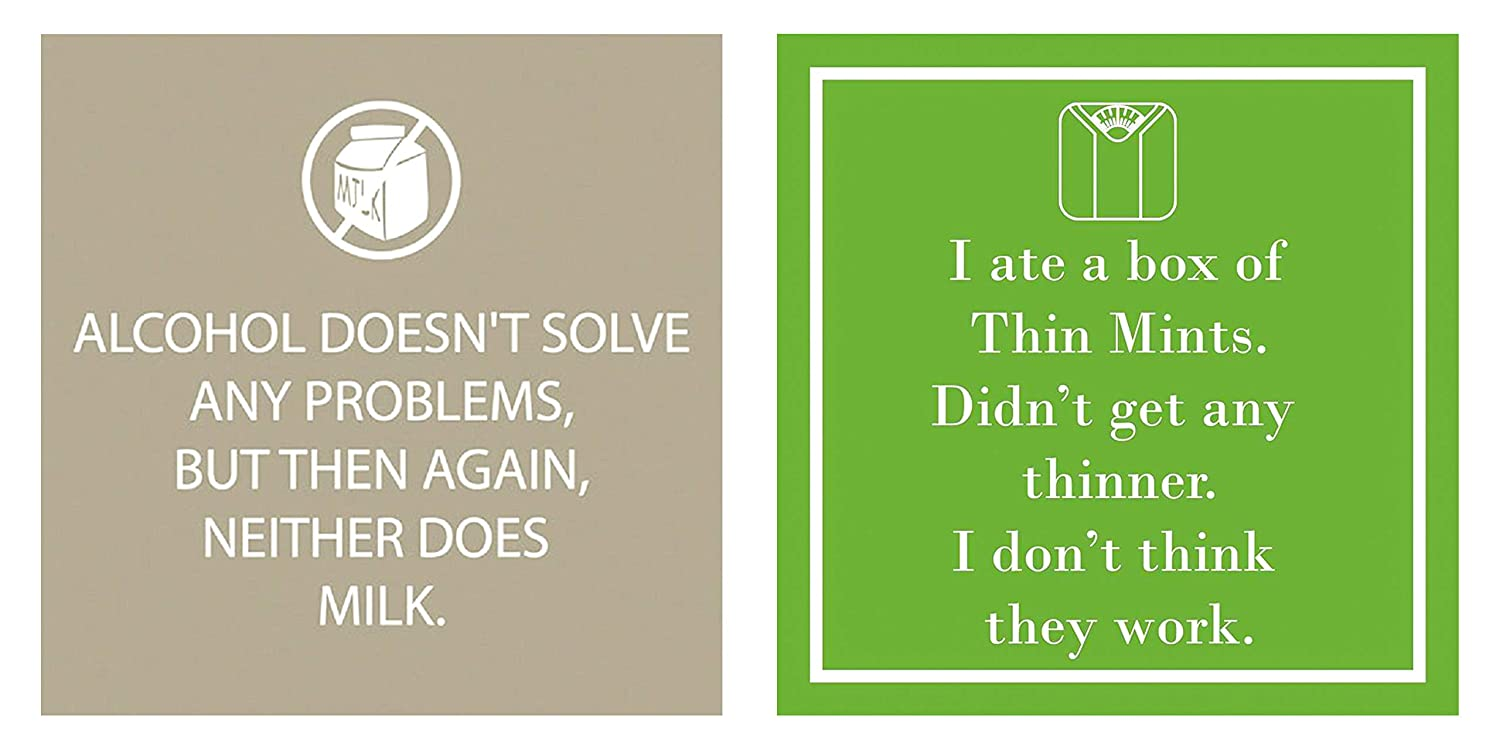 2 Pack PPD 3-Ply Paper Funny Words Beverage Napkins 20 Count Life Alert//WTF