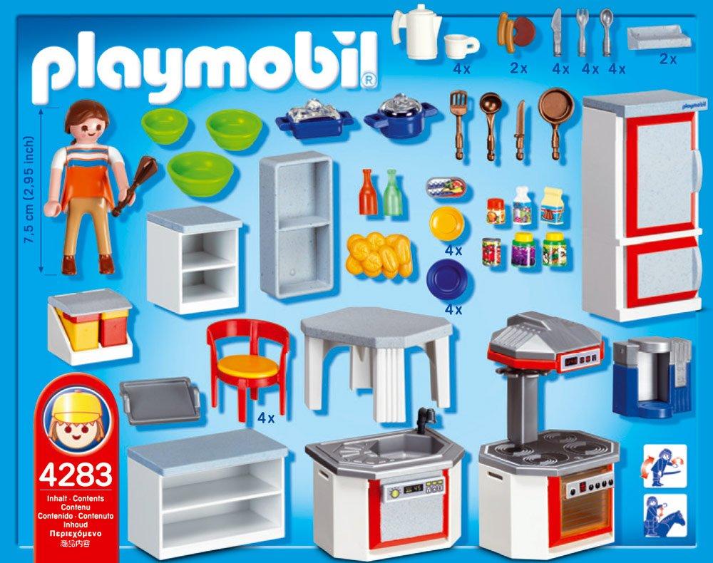 Playmobil 4283 jeu de construction cuisine équipée amazon fr jeux et jouets