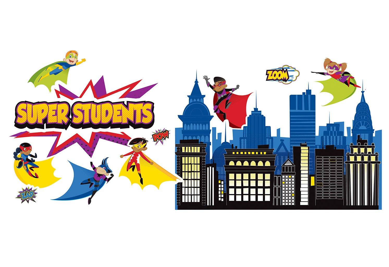 Amazon.com : Carson Dellosa Super Power Super Kids Bulletin Board ...