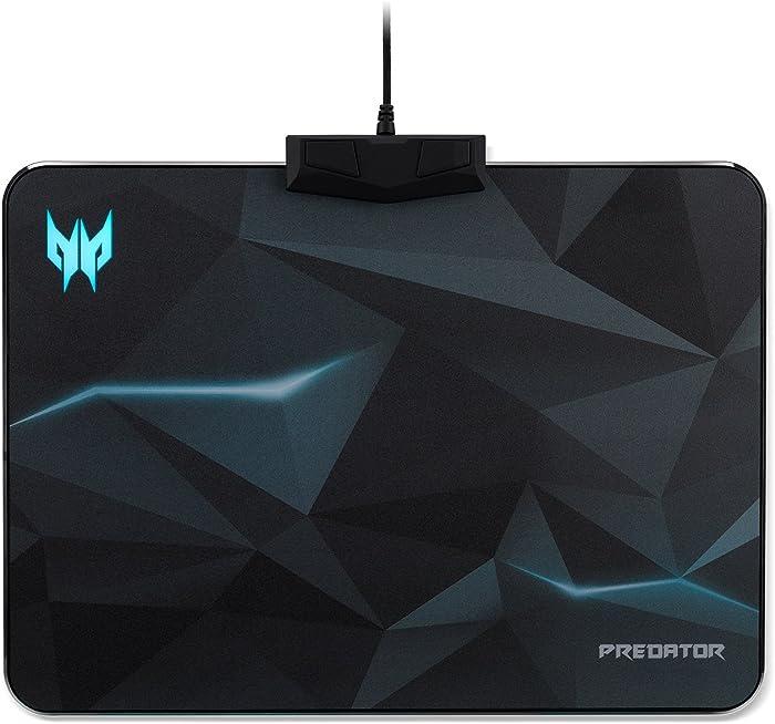 Acer Predator RGB Mousepad with 5 Profile Settings | 16.8M RGB Custom Backlit Colors | 6 Lighting Effects | 4 Brightness Levels