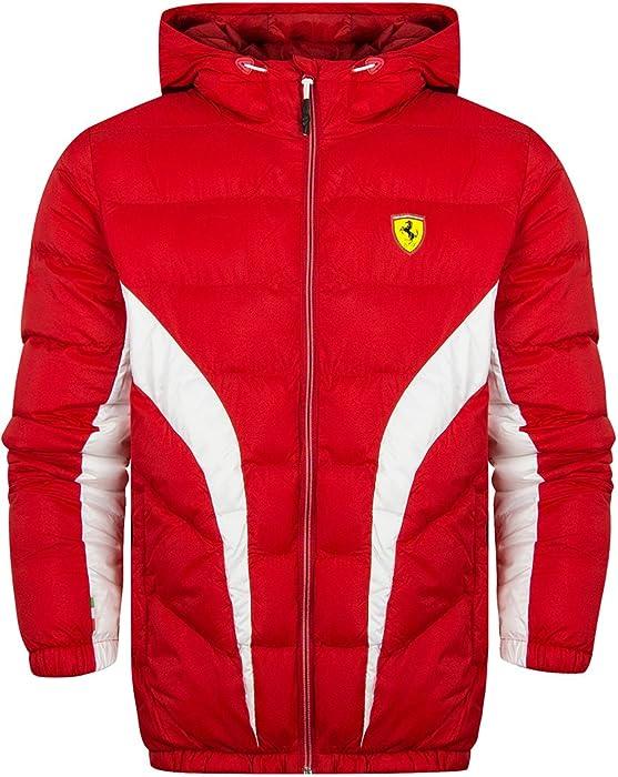 17d0f1f37cde8 Scuderia Ferrari Padded Puffer Jacket - Red