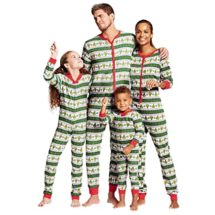 WensLTD Family Matching Xmas Pajamas Set - Women Men Boys Girls Kid Adult PJs Sleepwear Nightwear