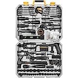 DEKOPRO 218-Piece General Household Hand Tool kit, Professional Auto Repair Tool Set for Homeowner, General Household Hand To