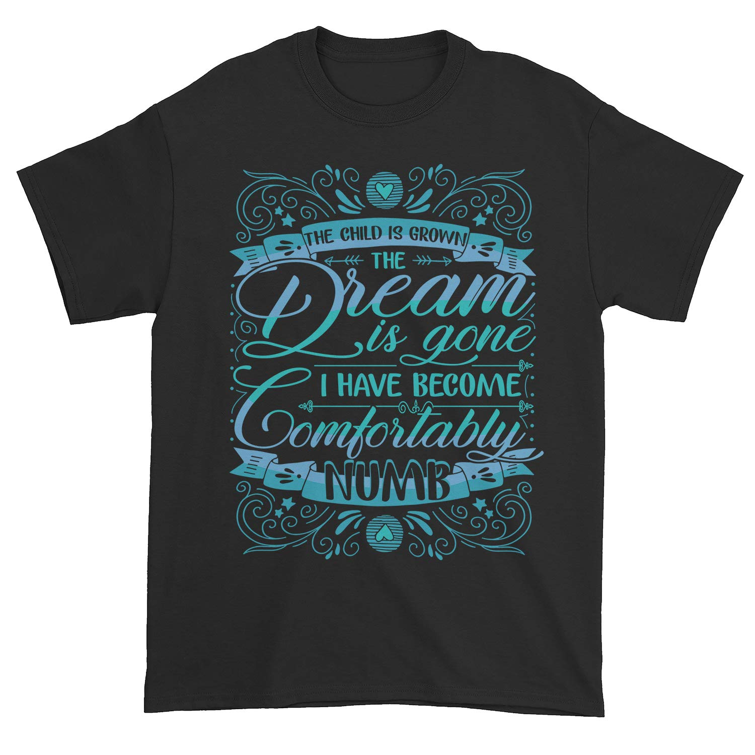 The Child Is Grown The Dream Is Gone I Have Become Comfortably Numb Pink Shirt 80 S 90 S M