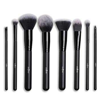 Makeup Brush Set Anjou 8pcs Beauty Brushes with Synthetic and Vegan Bristles, for All Consistencies