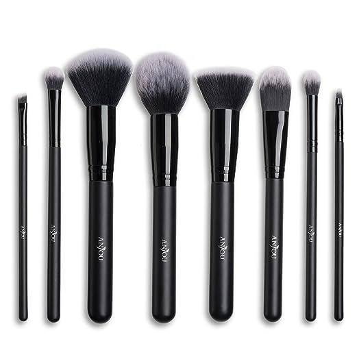 beautiful makeup brushes. makeup brush set anjou 8pcs beauty brushes with synthetic and vegan bristles, for all consistencies beautiful i