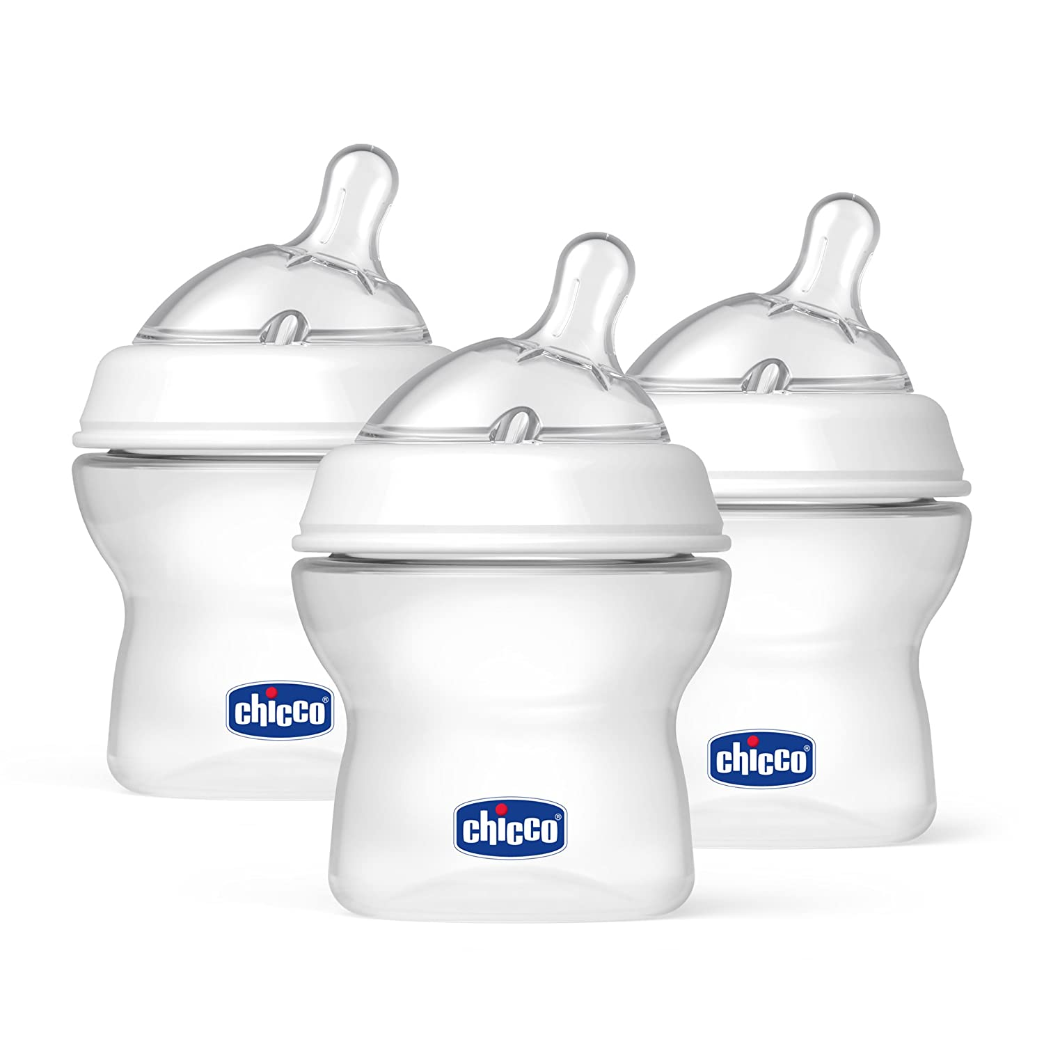 Chicco 8071150 NaturalFit Tri-Pack Bottles for Newborn Babies, 5oz, White 00080711500070