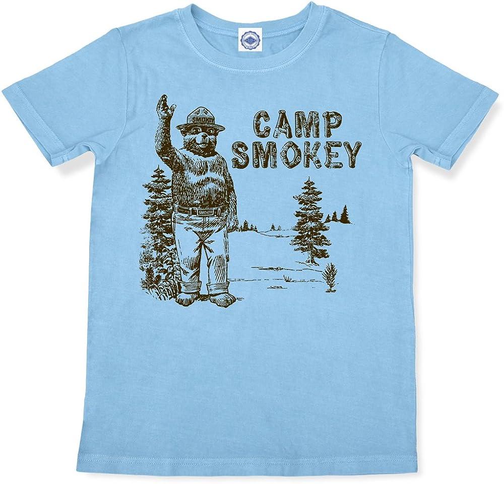 Smokey Bear//Camp Smokey Kids T-Shirt Hank Player U.S.A