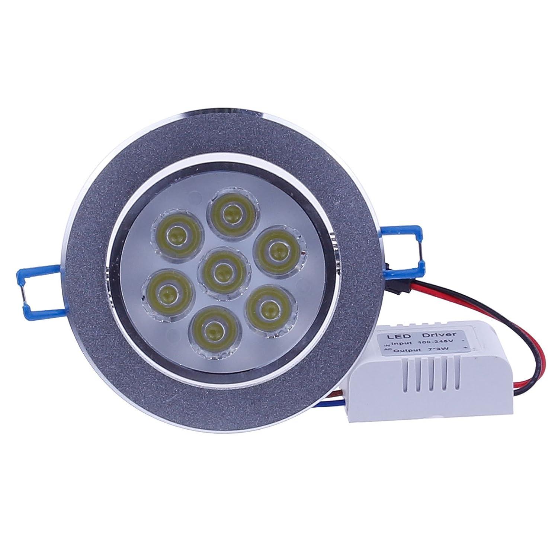 Cool White LemonBest Super Bright Real 7W LED Ceiling Light Spotlight Recessed Downlighting Fixture 7 watts