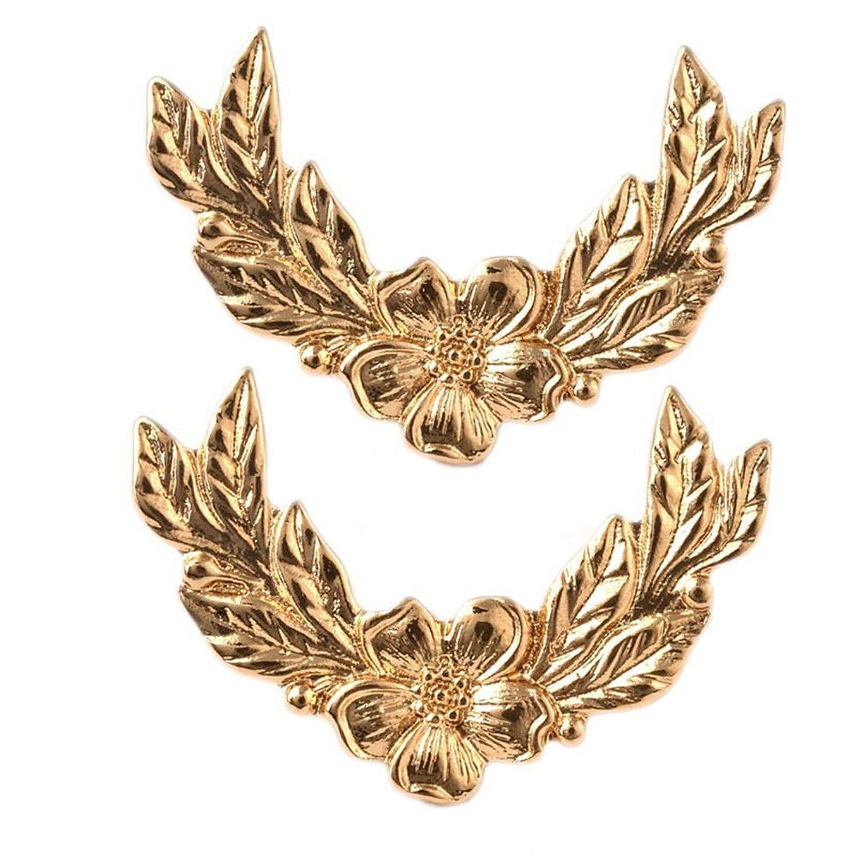 4be7c9963c24 Amazon.com  SIYWINA Vintage Retro Angel Wings Metallic Shirt Collar Clip( Gold)  Clothing