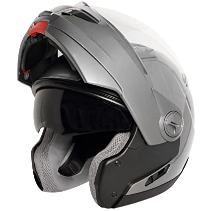 bdf20939 Image Unavailable. Image not available for. Color: Hawk ST-1198 Transition  2 in 1 Gun Metal Modular Helmet ...