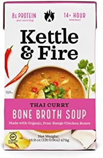 product image for KETTLE & FIRE Thai Curry Soup With Bone Broth, 16.9 OZ