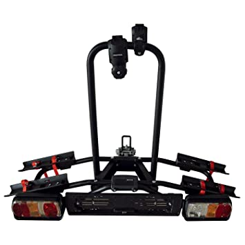 VDP Naos Tilting - Portabicicletas trasero para hasta 2 bicicletas (plegable, con soporte para