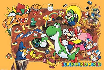 super mario world poster print 36 x 24 - Super Mario Pictures To Print