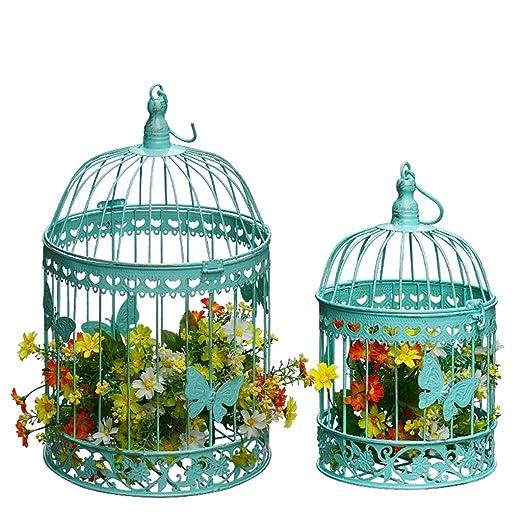 jaula Decoración de Marco de Flores de Hierro Forjado pájaros ...