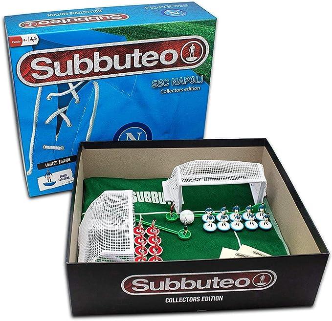 Giochi Preziosi Subbuteo Napoli Playset Retro con Alfombra de Juegos, 2 Puertas, balón y 22 Jugadores: Amazon.es: Juguetes y juegos