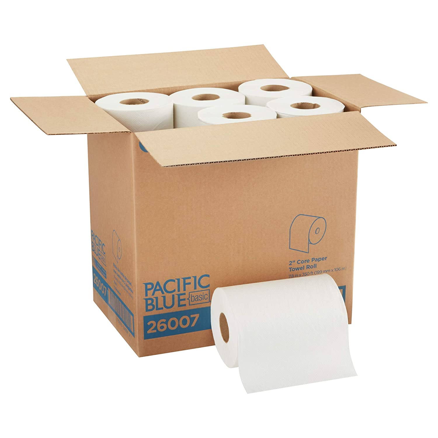 12 Rolls Per Case by GP PRO Pacific Blue Basic 2 Core Paper Towel Roll 26007 Previously Branded Acclaim 350 Linear Feet Per Roll White Georgia-Pacific