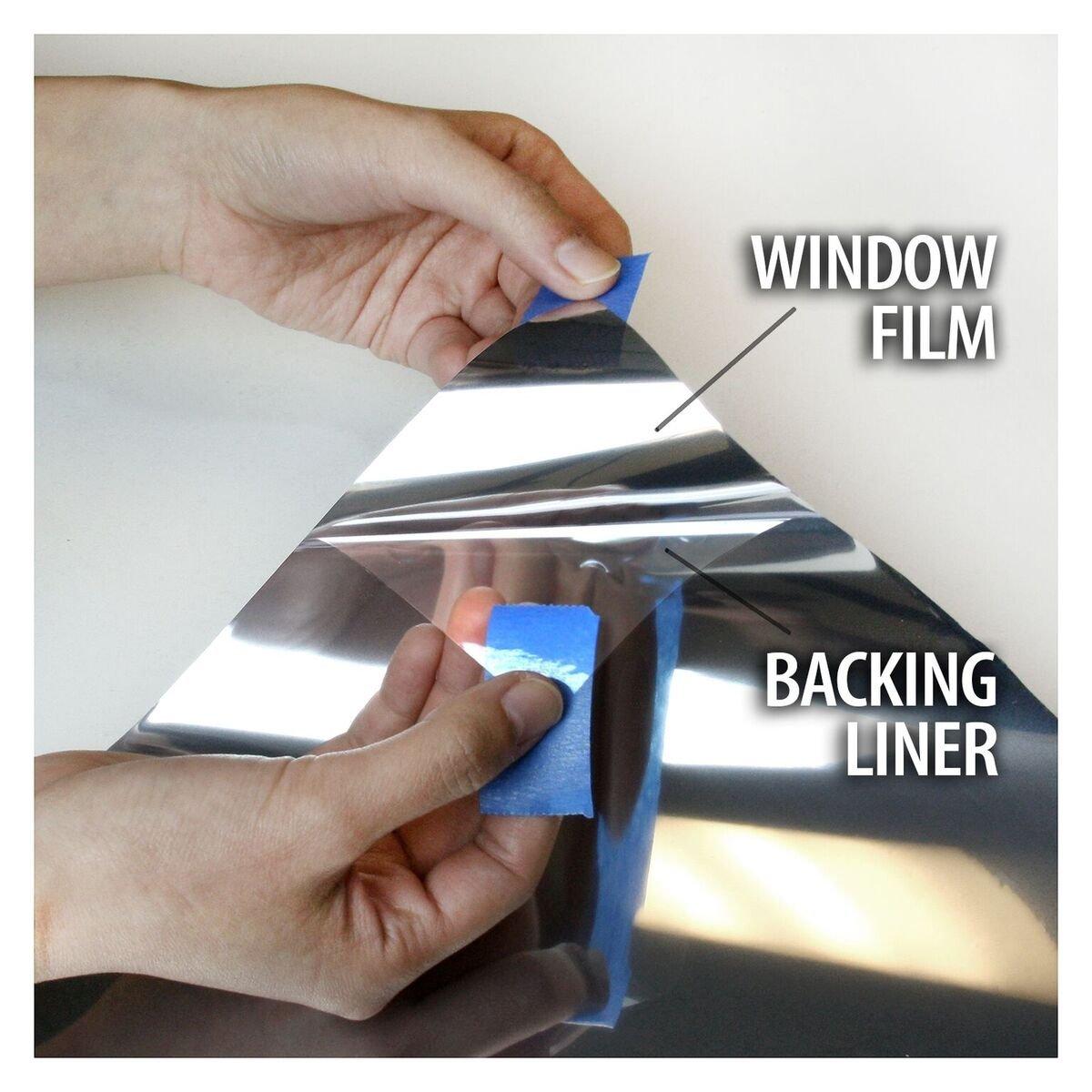 BDF S15 Window Film One Way Mirror Silver 15 (Dark) - 48in X 100ft by Buydecorativefilm (Image #6)