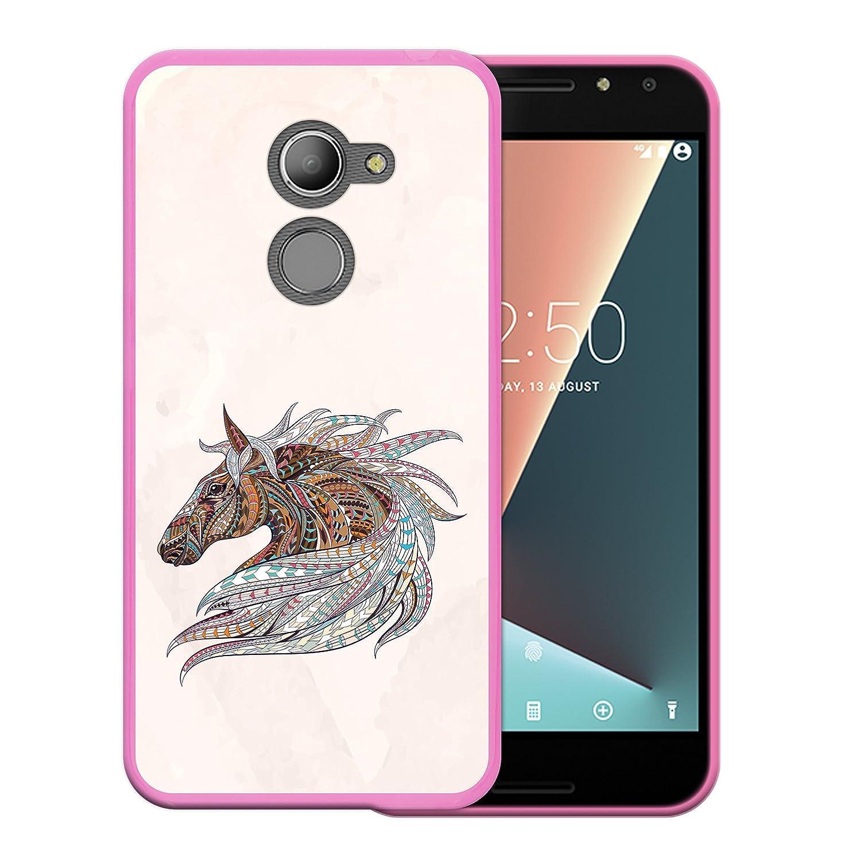WoowCase Funda para Vodafone Smart N8, [Vodafone Smart N8 ] Silicona Gel Flexible Emoticono Emoji Corazónes Amor, Carcasa Case TPU Silicona - Rosa