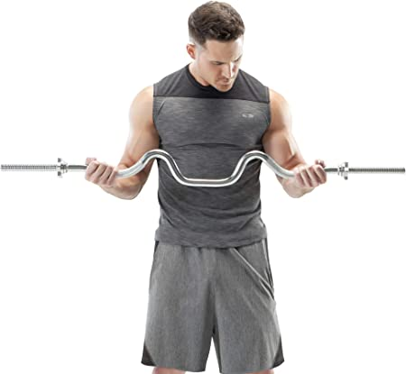 side facing apex marcy triceps and biceps combo curl bar