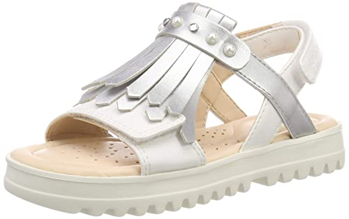 Geox J Coralie F, Sandales Bout Ouvert Fille