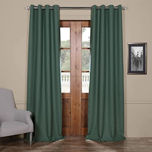 HPD Half Price Drapes BOCH-PL1605-108-GR Bellino Grommet Blackout Room Darkening Curtain 1 Panel