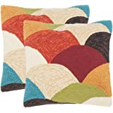 Safavieh Pillow Collection 20-Inch, Rainbow Mountain, Indoor/Outdoor Throw Pillows (Set of 2)
