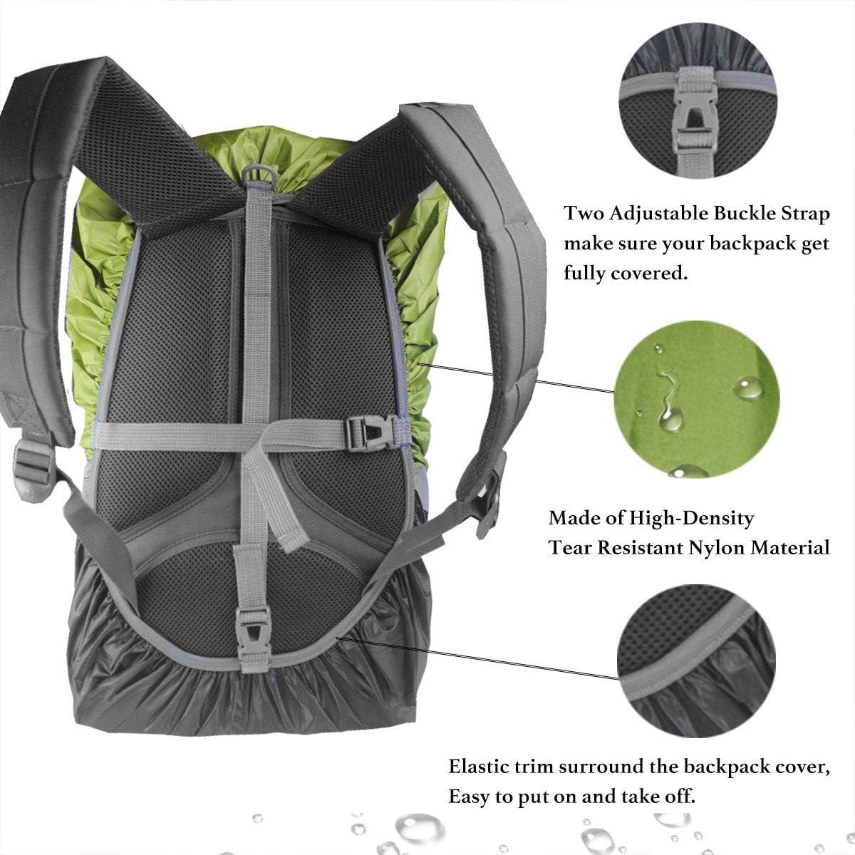 impermeable 15 /– 90 L con reflectores y correas antideslizantes en cruz para senderismo camping ciclismo Protector de lluvia para mochilas escolares Frelaxy funda para lluvia