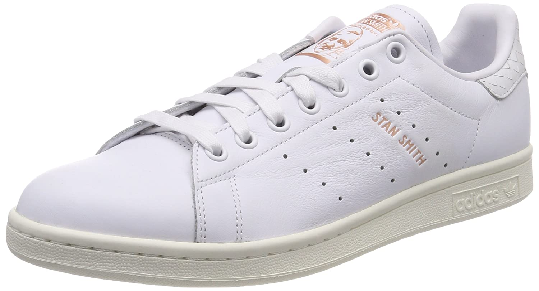 Adidas Stan Smith W, Zapatillas de Deporte para Mujer 38 EU|Blanco (Footwear White/Footwear White/Copper Metallic 0)