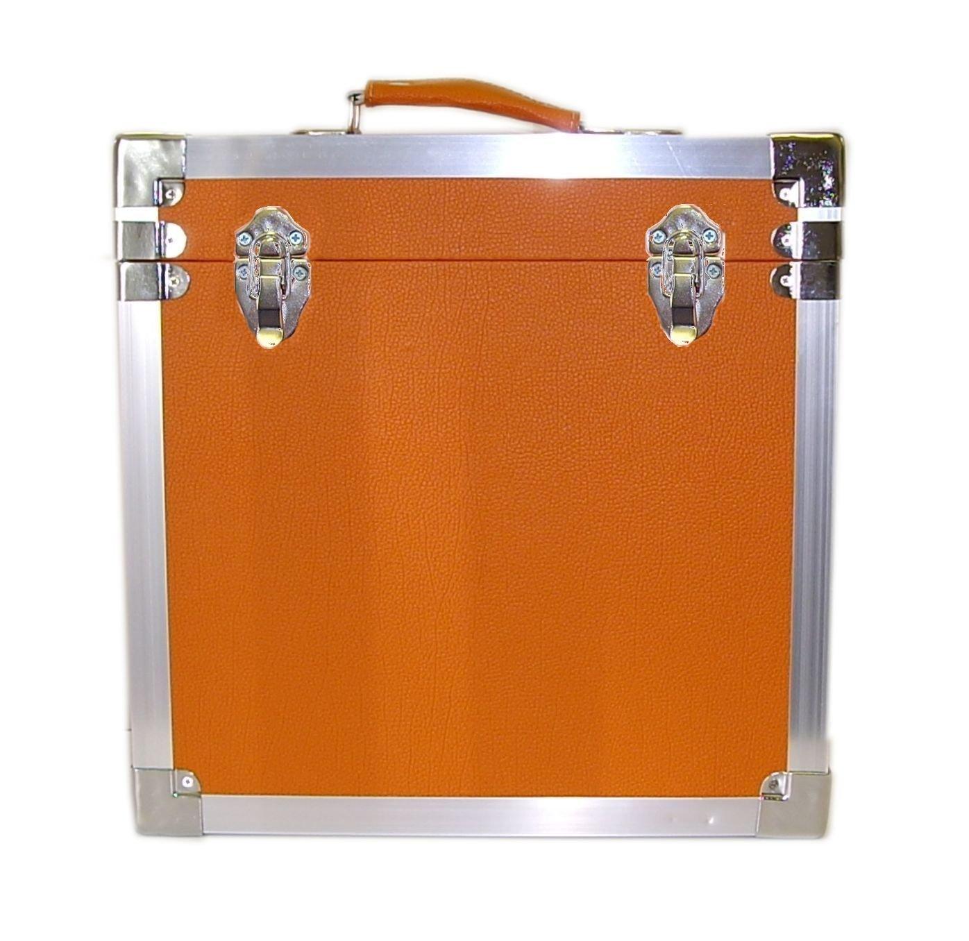 Steepletone - Caja de DJ para LPs y discos de vinilo, 30 x 30 x 20 cm, color azul