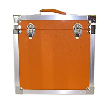 Steepletone LP/Album Vinyl DJ Record Storage Box/Flight Case   Orange
