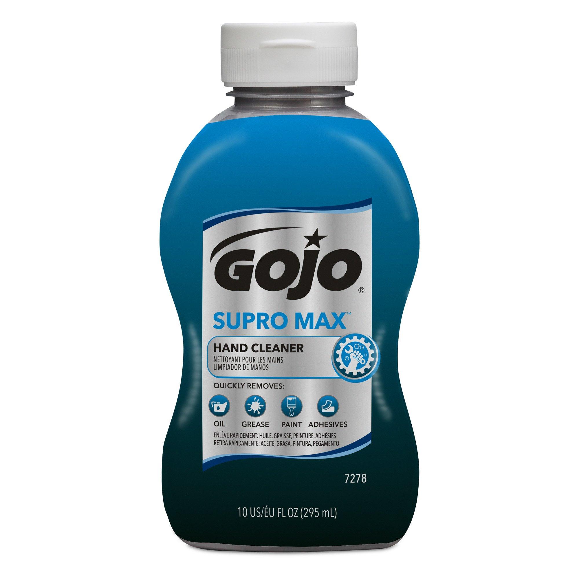 GOJO SUPRO MAX(TM) Hand Cleaner - 10 fl oz Bottle (Pack of 8)