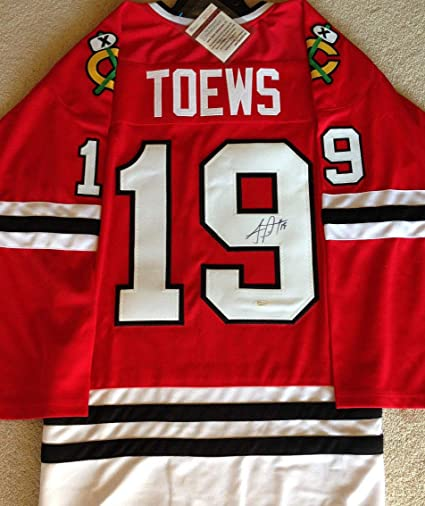 a1aeef212cb Jonathan Toews Autographed Signed Chicago Blackhawks Jersey 3X Stanley Cup  Champion - JSA Certified