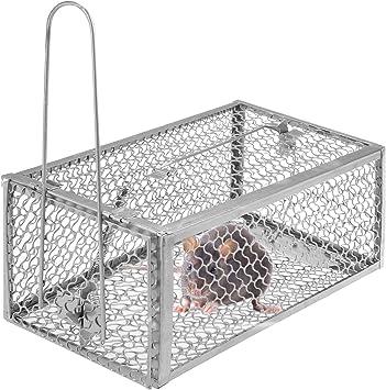 Souris Cage Piège Réutilisable 250 x 90 x 90 mm antiparasitaire Catcher Rongeur Piège Humane