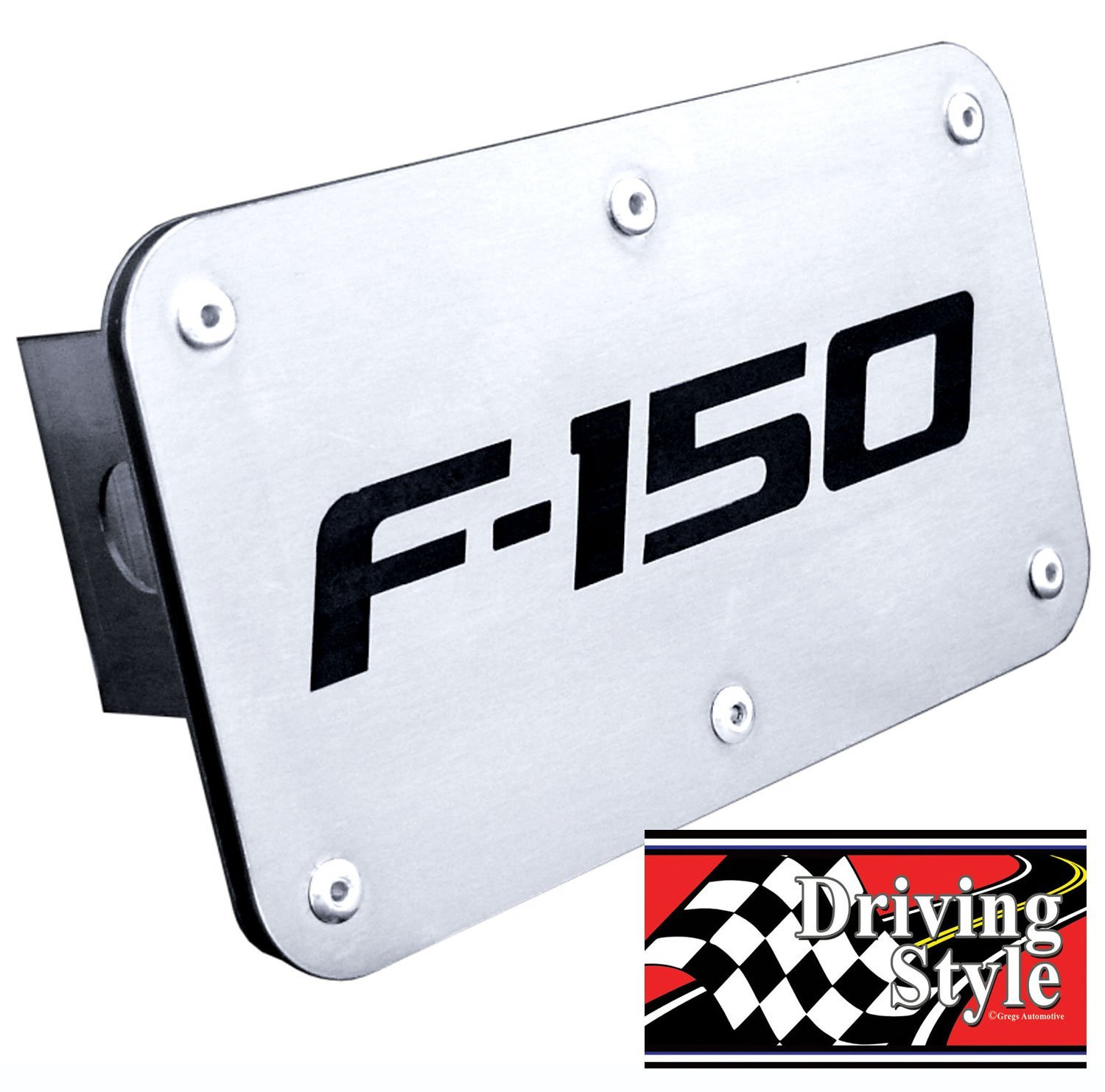 1 Hitch Cover and 1 Driving Style Decal Automotive Gold Gregs Automotive Ford F-150 Hitch Cover Bundle Of 2 items