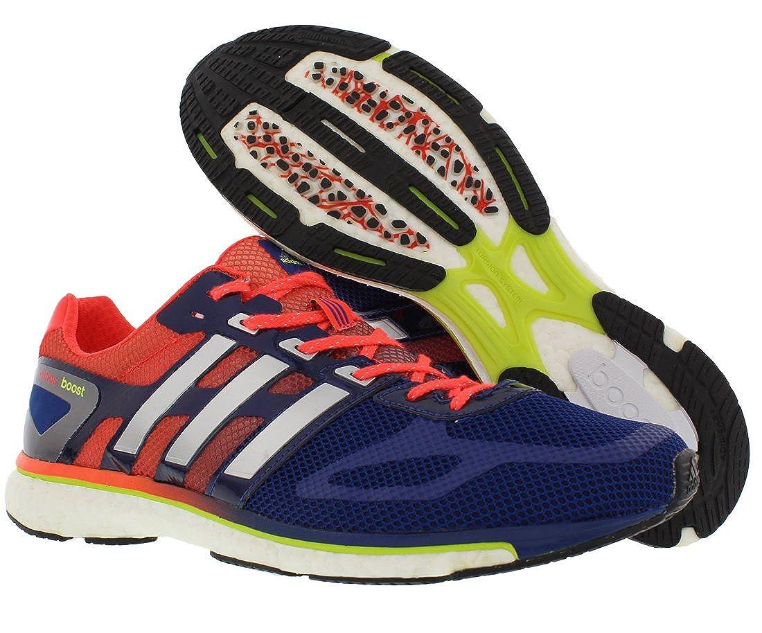 adidas Adizero Adios Boost Running Shoes for Men, Hero InkInfraredMetallic Silver