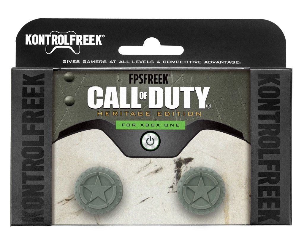 KontrolFreek FPS Freek Call of Duty WWII Heritage Edition for Xbox One Controller | 2 Performance Thumbsticks | 2 Mid-Rise Concave | Green by KontrolFreek