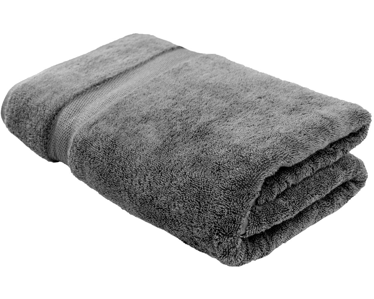Cotton & Calm Exquisitely Plush and Soft Oversized Bathsheet Towel, Grey - 1 Extra Large Bath Towel (35'' x 70'') - Spa Resort and Hotel Quality, Super Absorbent 100% Cotton Luxury Bathroom Towels