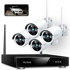 Victure 1080P 8 Channel NVR 4PCS Outdoor