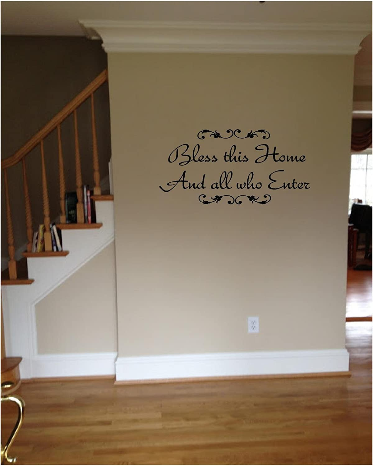 Quote It!   Bless This Home And All Who Enter Vinyl Wall Decals Quotes,  Welcome Wall Quote Decals     Amazon.com Part 84