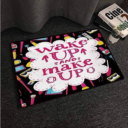 Amazon com : HCCJLCKS Door mat Quote Witty Saying Wake Up