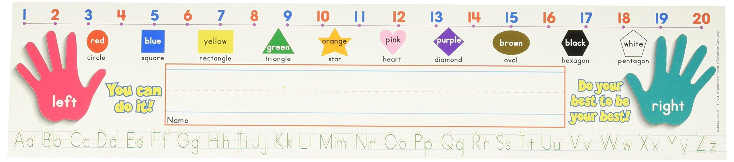 Scholastic Super School Tool Standard Manuscript Name Plates Primary Grades (TF1551)