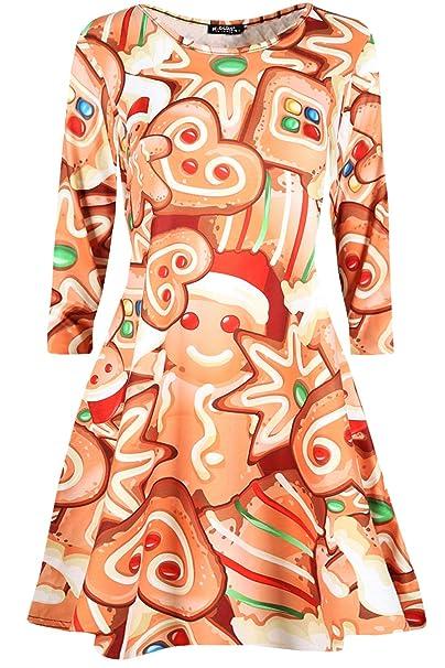 e16d05ce8c1 Be Jealous Womens Xmas Christmas Swing Dress Funny Penguin Snowman Santa  Dress Top  Amazon.co.uk  Clothing