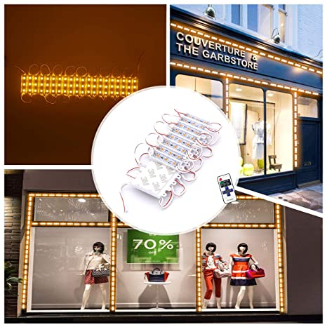 Window Lights LED Module Lights LED Storefront Lights Pomelotree 11ft 40 Pieces Waterproof Decorative Light for