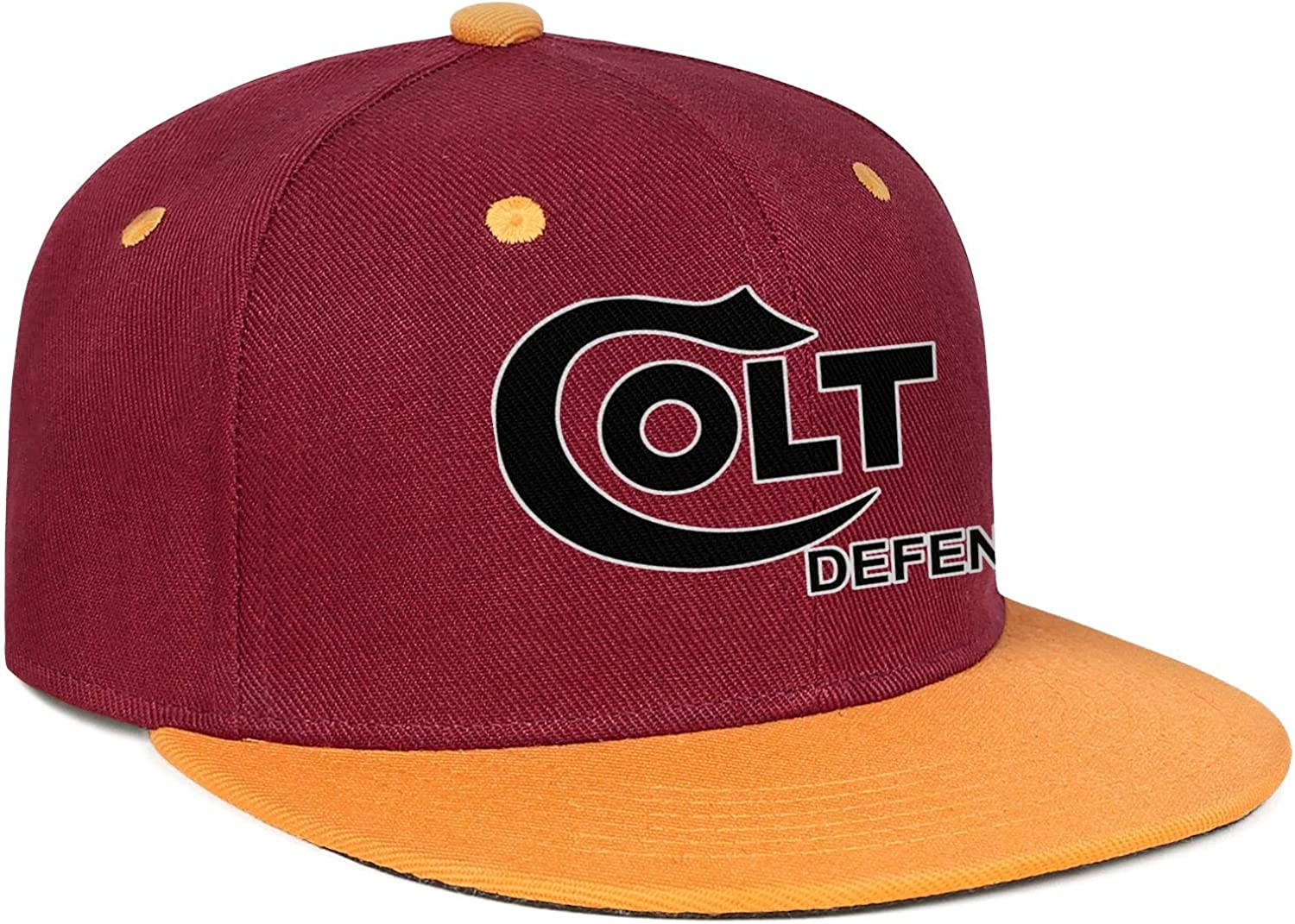 Mens Colt-Defense Hip Hop Baseball Cap Cotton Adjustable Fit Truck Drivers Hat Sports Flat Top Hats