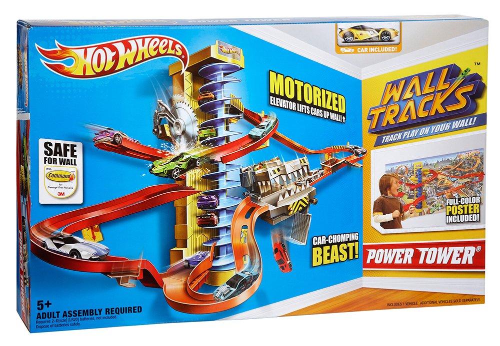 Amazon.com: Hot Wheels Wall Tracks Power Tower Trackset: Toys & Games