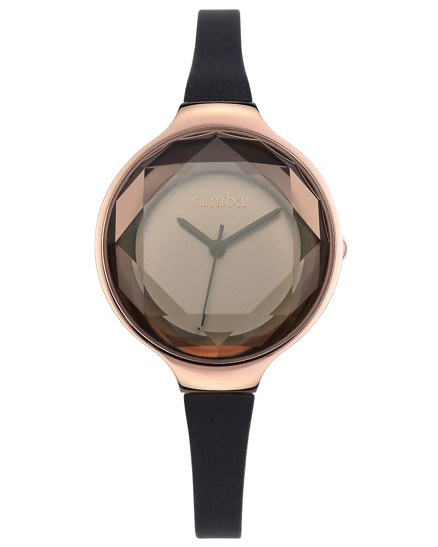 RumbaTime Women s 15628 Orchard Gem Mini Rose Gold 30mm Black Diamond Watch