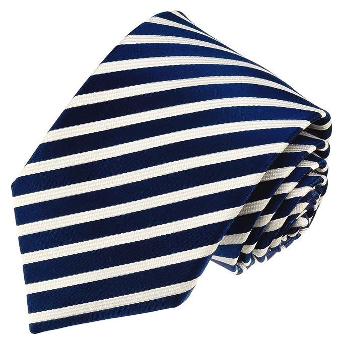 LORENZO CANA - Marcas corbata de seda 100% - Azul Oscuro Azul ...