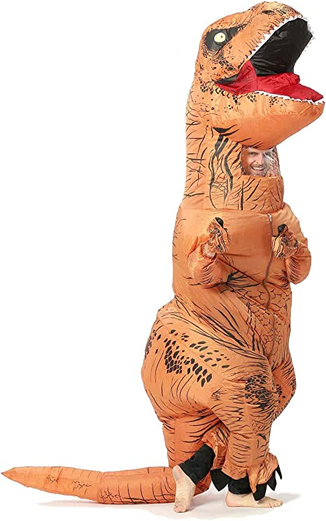 JYZCOS Disfraces inflables del Dinosaurio de T-Rex para el Unisex ...